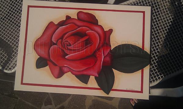 Acryl Rose auf Leinwand